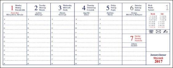 kalendarz biurkowy kalendarium