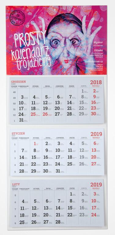 kalendarz trojdzielny ekonomiczny Drukarnia Comers